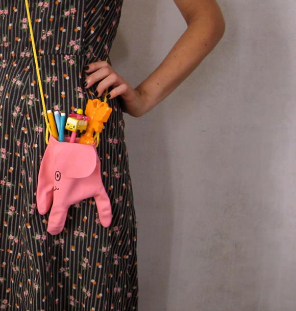 DIY Dish Glove Elephant Bag by Misako Mimoko