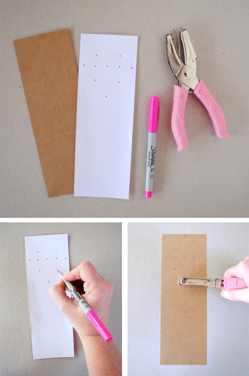 DIY Back To School Lacing Bookmarks