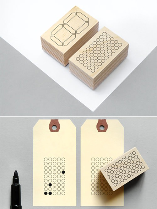 LCD Rubber Stamp by Present&Correct