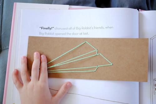 DIY Back To School Lacing Bookmarks
