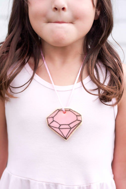 DIY Gem Cookie Necklace
