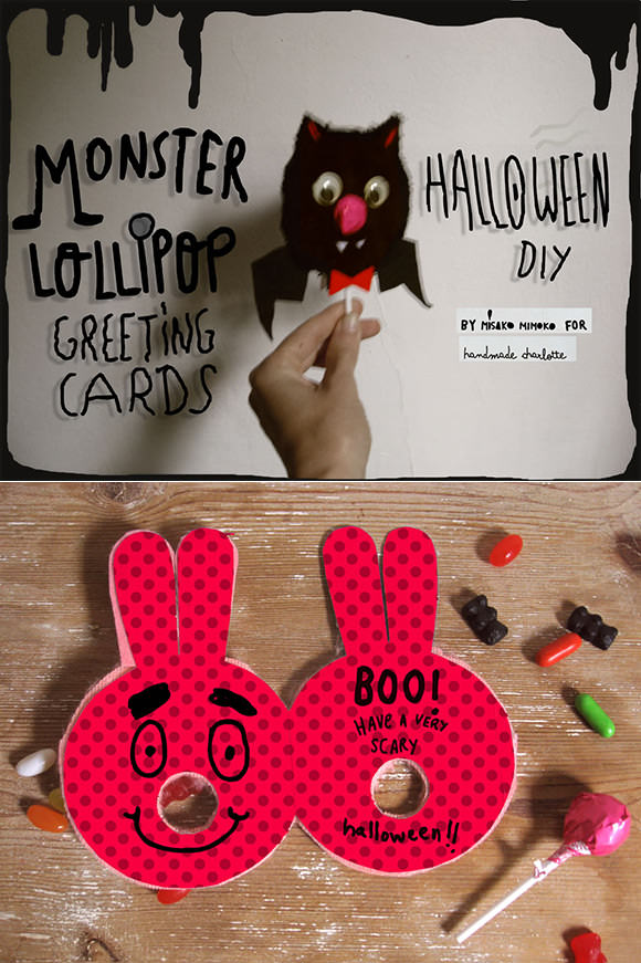 DIY Monster Lollipop Greeting Cards