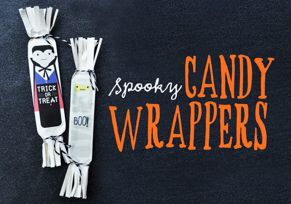 DIY Spooky Candy Wrappers Printable