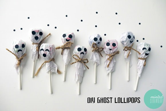 DIY Ghost Lollipops for Halloween