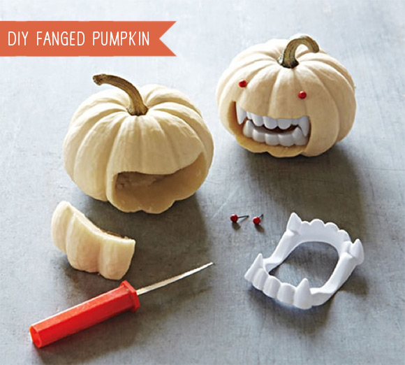 DIY Fanged Pumpkin Tutorial