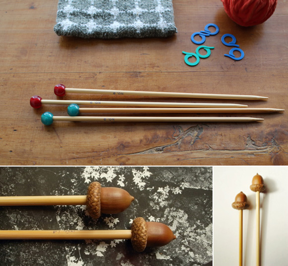 Acorn Knitting Needles by LAVVO