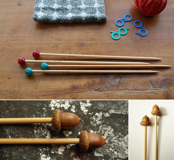 Acorn Knitting Needles by LAVVO