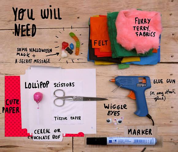 DIY Monster Lollipop Greeting Cards for Halloween