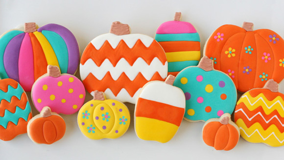 Colorful Pumpkin Cookies