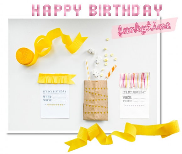 DIY Party Printables from Funkytime
