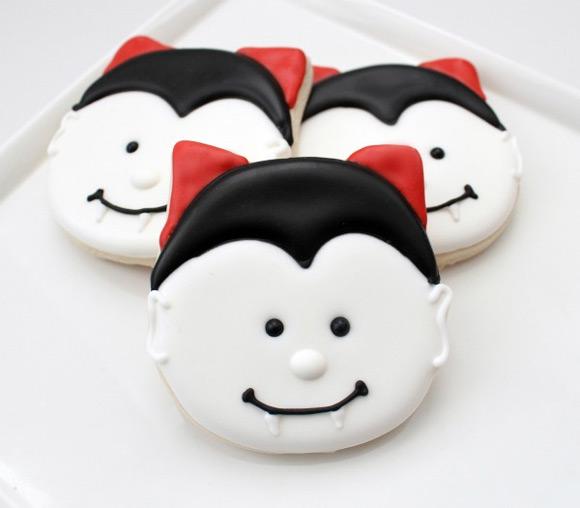Halloween Dracula Vampire Cookies