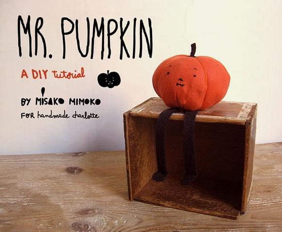 DIY Mr. Pumpkin Plush Doll Tutorial