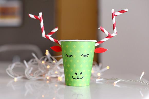 DIY Paper Cup Reindeer