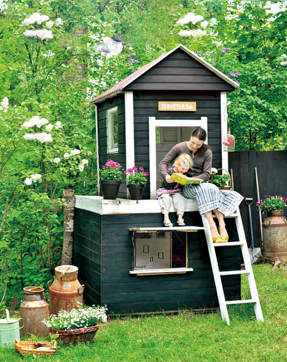 Amazing Playhouse in a Finland Family Garden