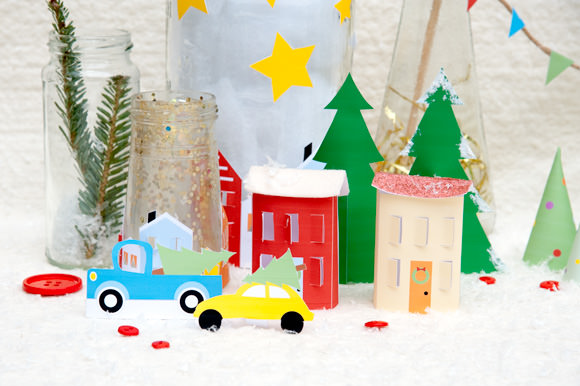 HP Free Printable Holiday Village