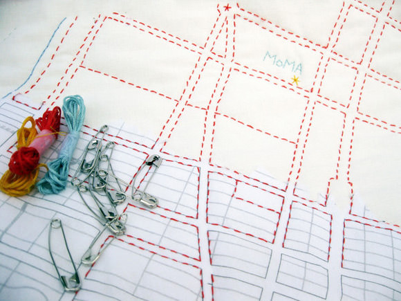 DIY Quilt Map Kit by Haptic Labs