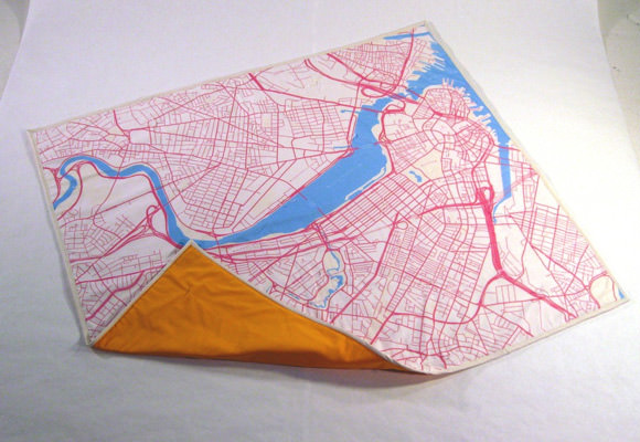 Haptic Labs Map Baby Quilt