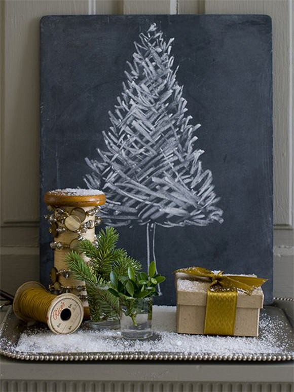 DIY Chalkboard Christmas Tree