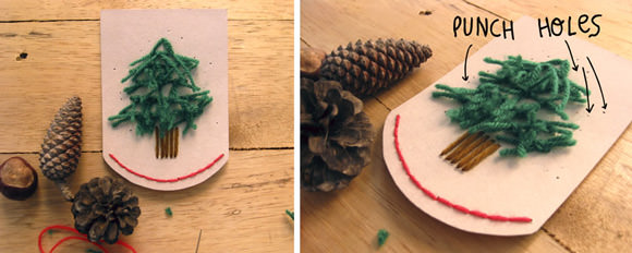 Snowy Forest Embroidered Garland Tutorial