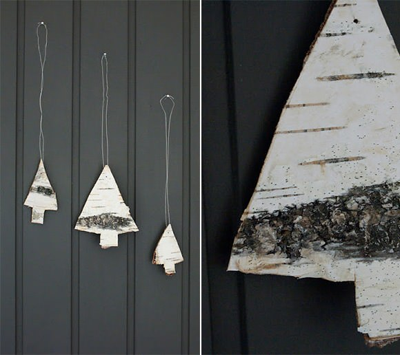 DIY Birch Christmas Tree Ornaments