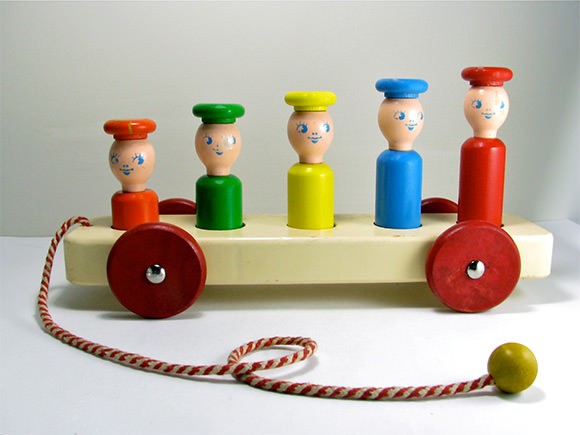 Etsy Vintage Toy Find: Playskool Pull Toy