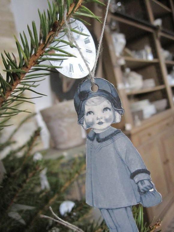 DIY Paper Doll Ornament
