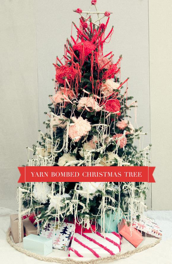 Yarn Bombed Christmas Tree