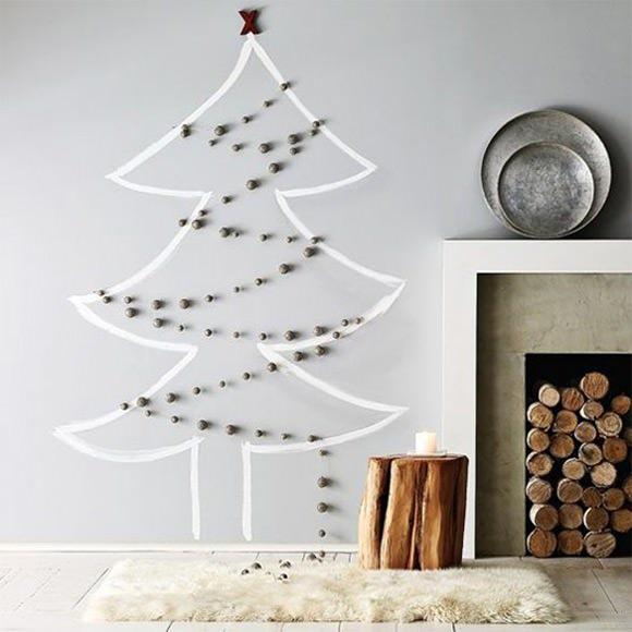 Christmas Decoration Ideas For A Blank Wall : Rustic simple diy christmas trees handmade charlotte
