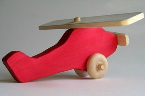 Wooden Airplane Toy via Etsy