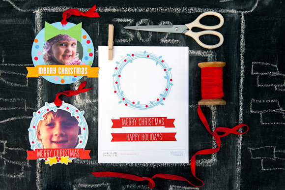 HP Printable Photo Wreaths by Handmade Charlotte