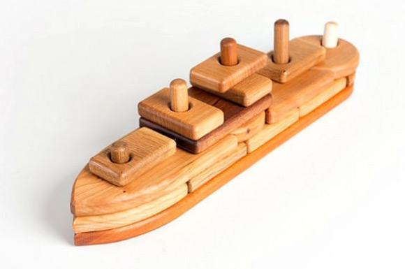 Wooden Boat Puzzle via Etsy