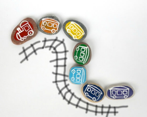Handmade Rainbow Magnet Train for Kids on Etsy