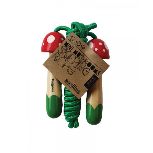 Healthy Stocking Stuffers - Mini Mushroom Skipping Rope by Seedling