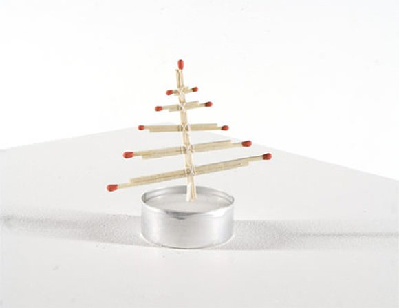 DIY Tea Light Christmas Tree