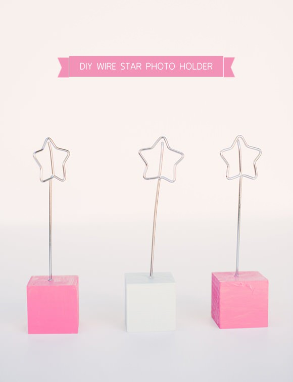 DIY Wire Star Photo Holder
