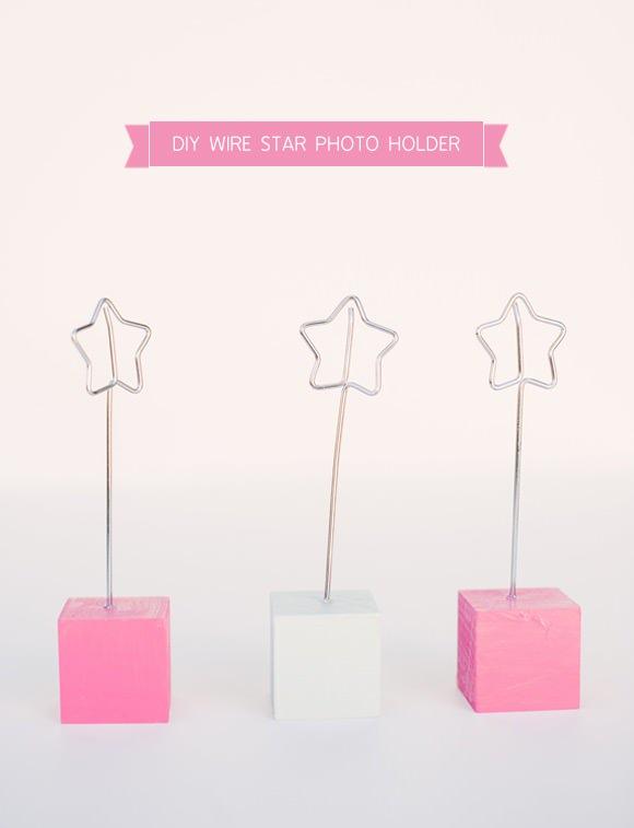 Picture Holder Wire | Diy Wire Star Photo Holder Handmade Charlotte