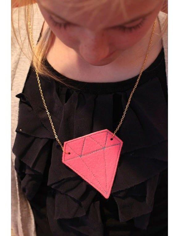 DIY Felt Gem Necklace