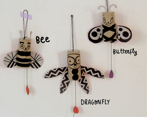 DIY Jumping Jack Bugs - super fun!