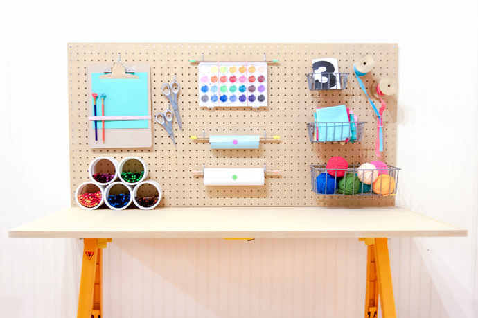 DIY Craft Station for Kids