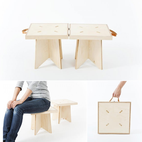 Handmade Wooden Chairs and Case from iichi