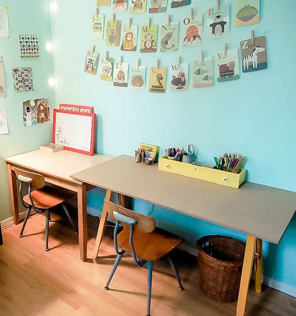 craft room desk ideas kid friendly craft studio on a budget handmade 4021