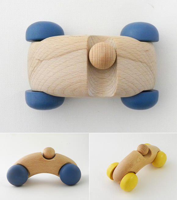Handmade Wooden Toy Cars from iichi