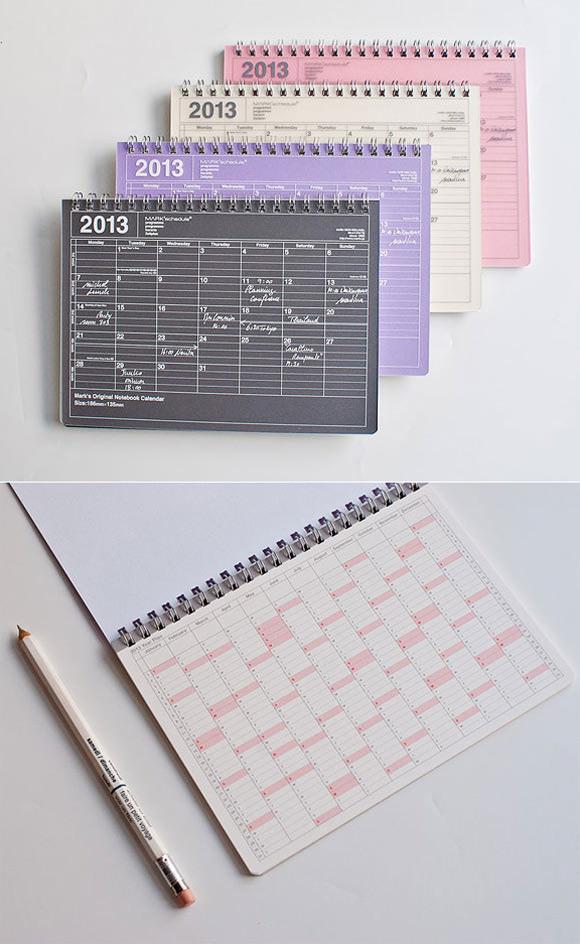 Mark's Original Pocket 2013 Notebook Calendar