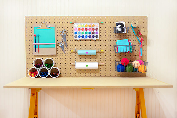DIY Kid Craft Table Station
