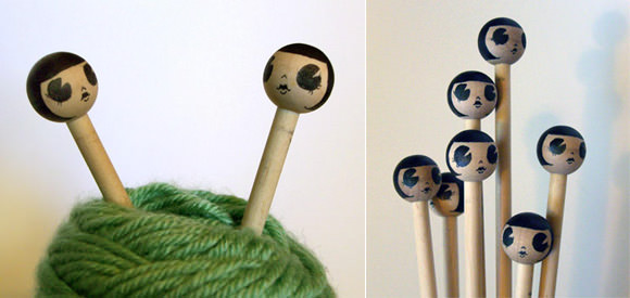Flapper Knitting Needles by Bee's Knees Industries