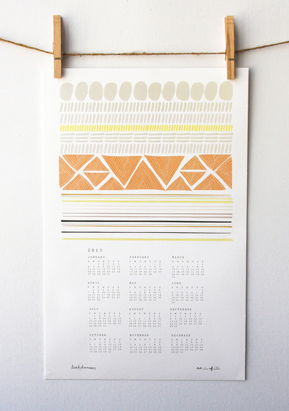 2013 Shapes Wall Calendar