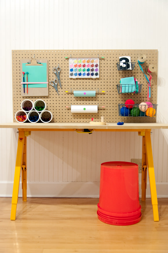DIY Kids Craft Area