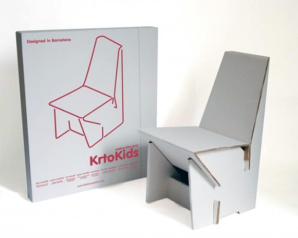 cardboard chair for kids by fdk
