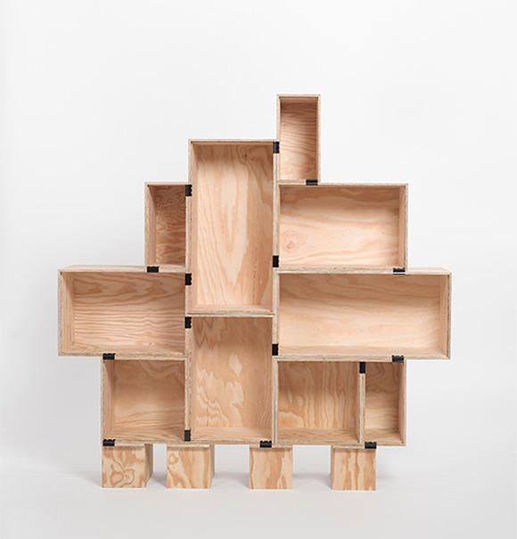 Easiest DIY Bookshelf ever - just wine boxes & binder clips!