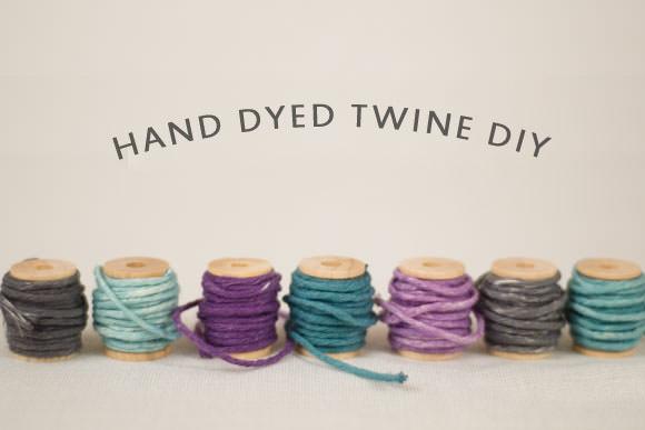 DIY Hand-Dyed Twine